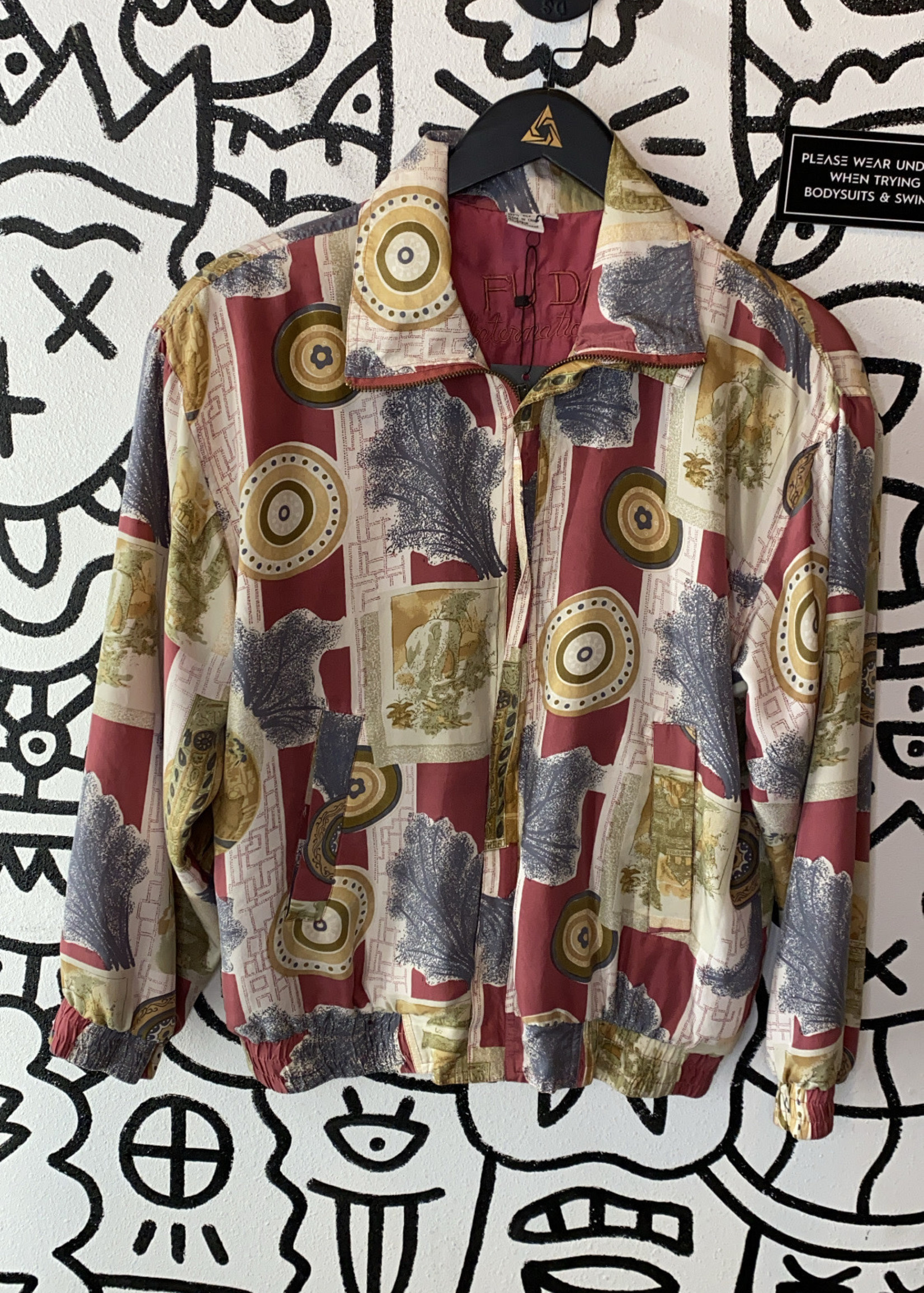 Fuda Vintage PInk Pattern Jacket S