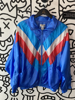 Vintage Lavon Red White Blue Windbreaker Jacket M