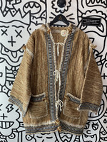 No Label Sweater Brown Cover Up with pockets M/L