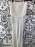 Fashion Nova White Ruffle Jumpsuit