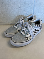 Vans Checkered Sparkly Lace Sneakers 9