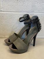 Kenneth Cole Grey Studded Stilettos 9