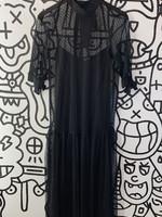 NWT Zara Black Lace Long Dress S