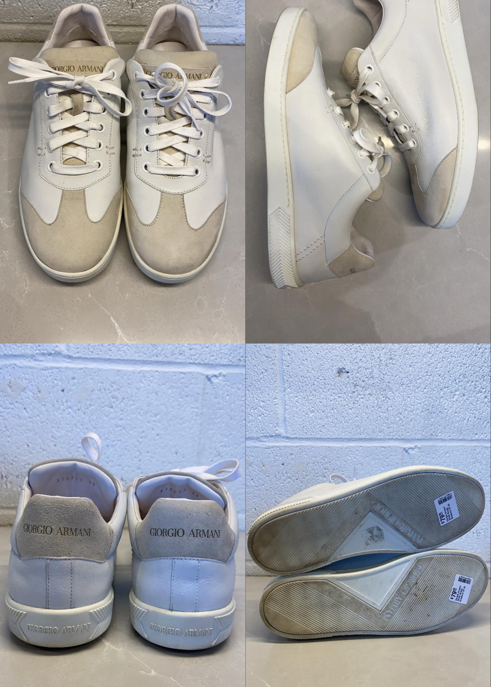 Giorgio Armani White Suede Sneakers 39