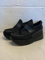 Stephane Kelian Designer Black Platform Loafers 8