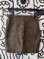 "Vintage Pecol Brown Texture Short Mini Skirt 27"""
