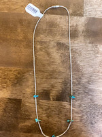 Vintage Sterling Silver Small Turquoise Stones Necklace
