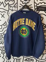 Vintage Notre Dame Blue Crewneck XL