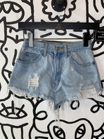 "Vintage Jordache Light Wash Distressed Shorts 24"" XS"