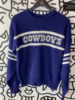 Vintage Cowboys Blue Sweater M