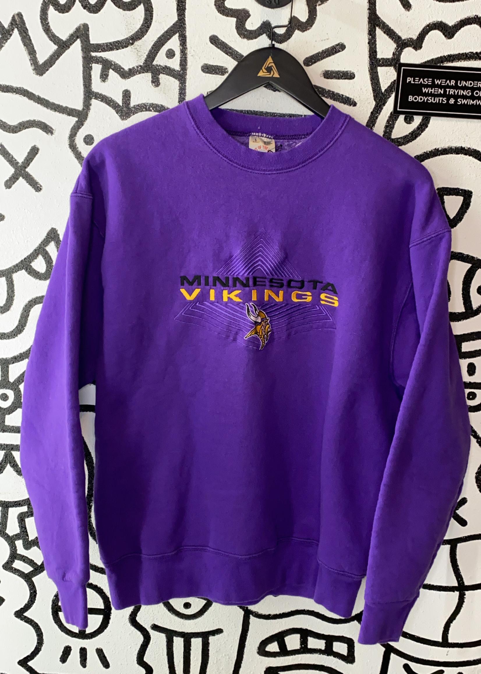 Vintage Minnesota Viking Purple Crewneck L