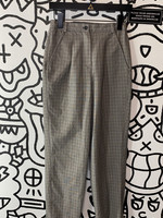 "Adolfo Studio Vintage Grey Plaid Stretch Pants 26"""