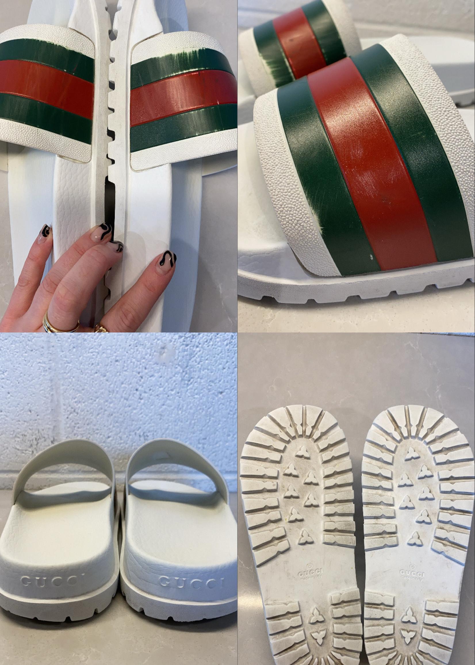 Gucci White Slides 9