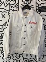 Coca Cola White Denim JAcket S