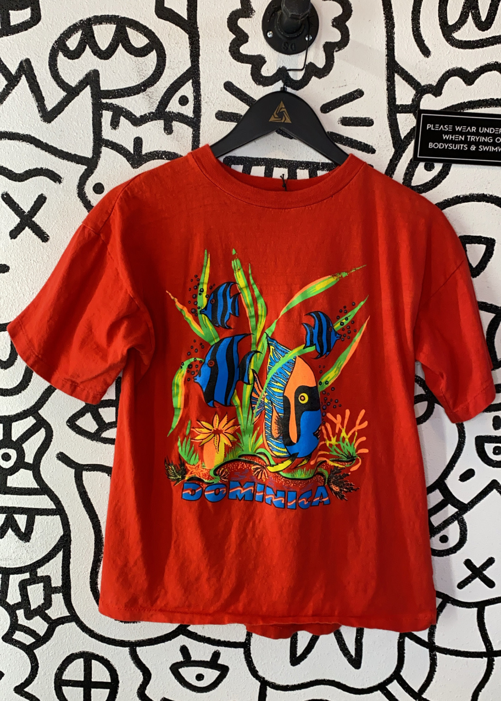Vintage Dominica Tropical Red T Shirt XL