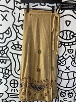 Vintage Maxi flow tie wrap boho skirt OS