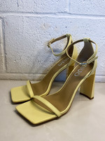 EGO yellow strap square heels 7.5