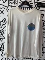 LA Gear Vintage White Long Sleeve Distressed XL