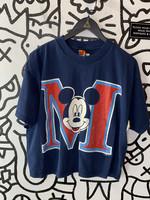 Mickey Unlimited Blue Vintage Crop Top L-
