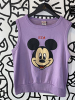 Vintage Mickey Purple Tank Sweater L