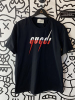 Bootleg Gucci Blade Logo Black T-Shirt XL