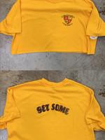 Vintage Yellow 'Get Some' Tee Women's XL