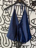 Free people silk blue body suit S