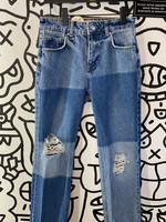 Free People Mismatched denim high waisted jeans 26