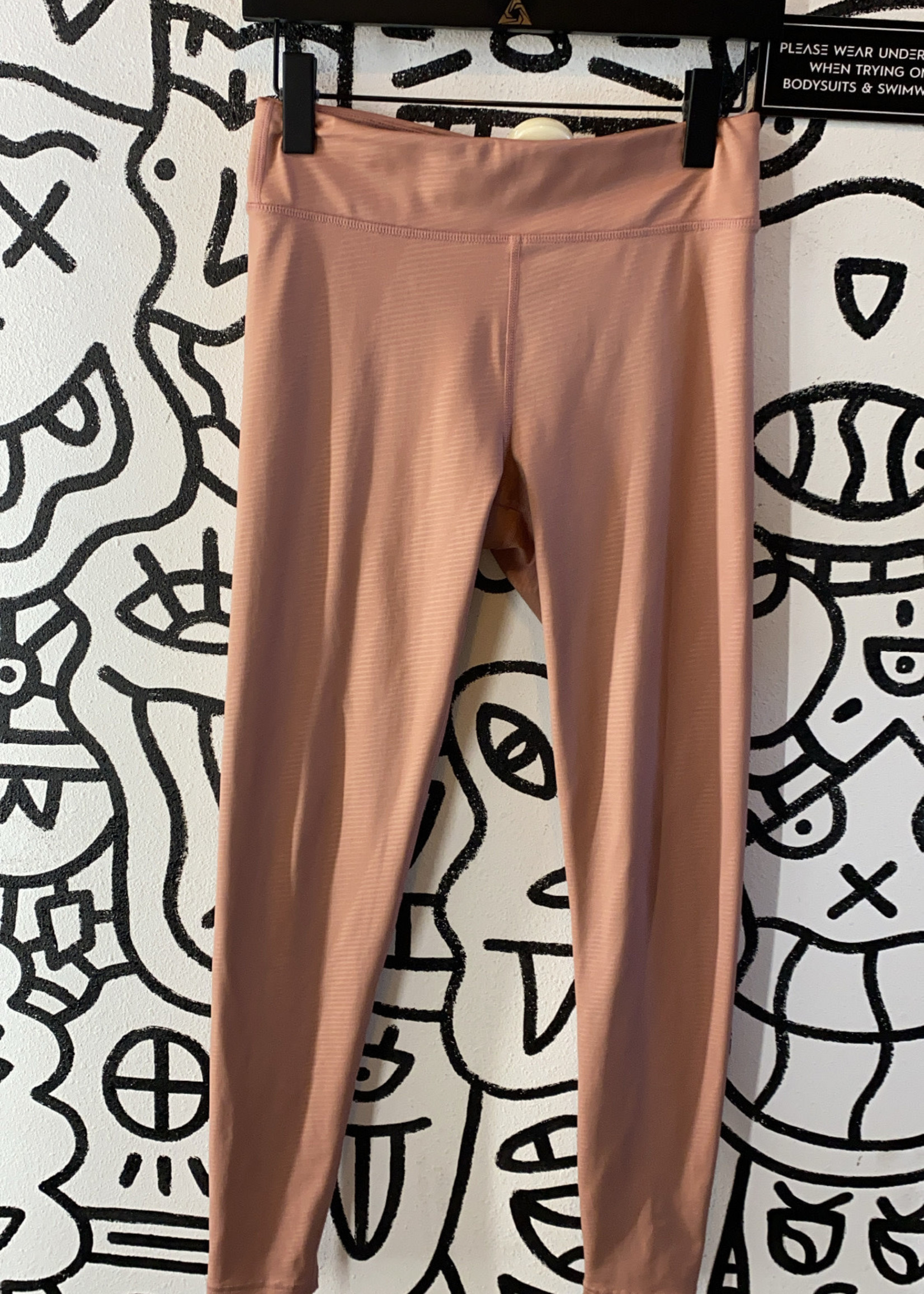 Free People movement light pink texture long athletic leggings S