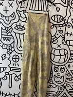 Free People Sweat Tank Top floral Jumpsuit XS