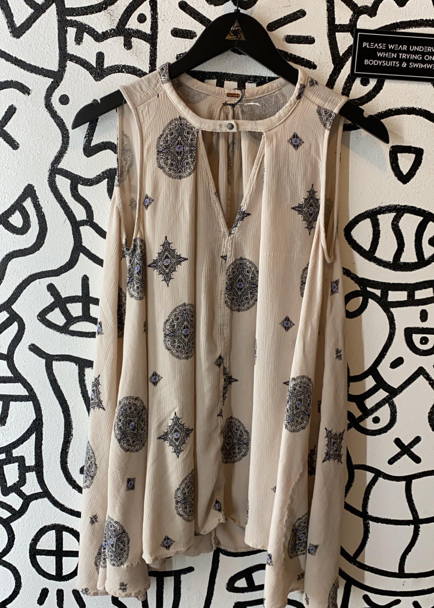 Free people v neck tank top dress tan design S
