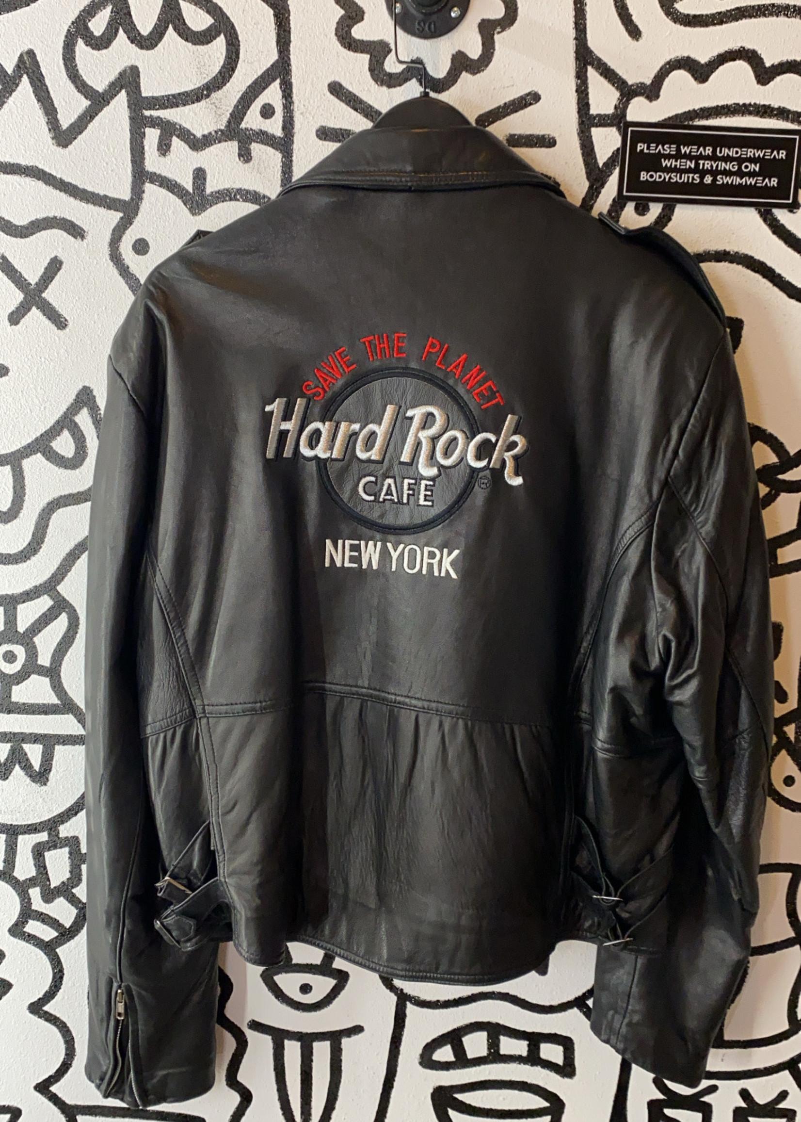 Hard Rock Cafe  New York black  leather jacket L