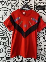 Vintage Red Flapper Fringe Shirt L