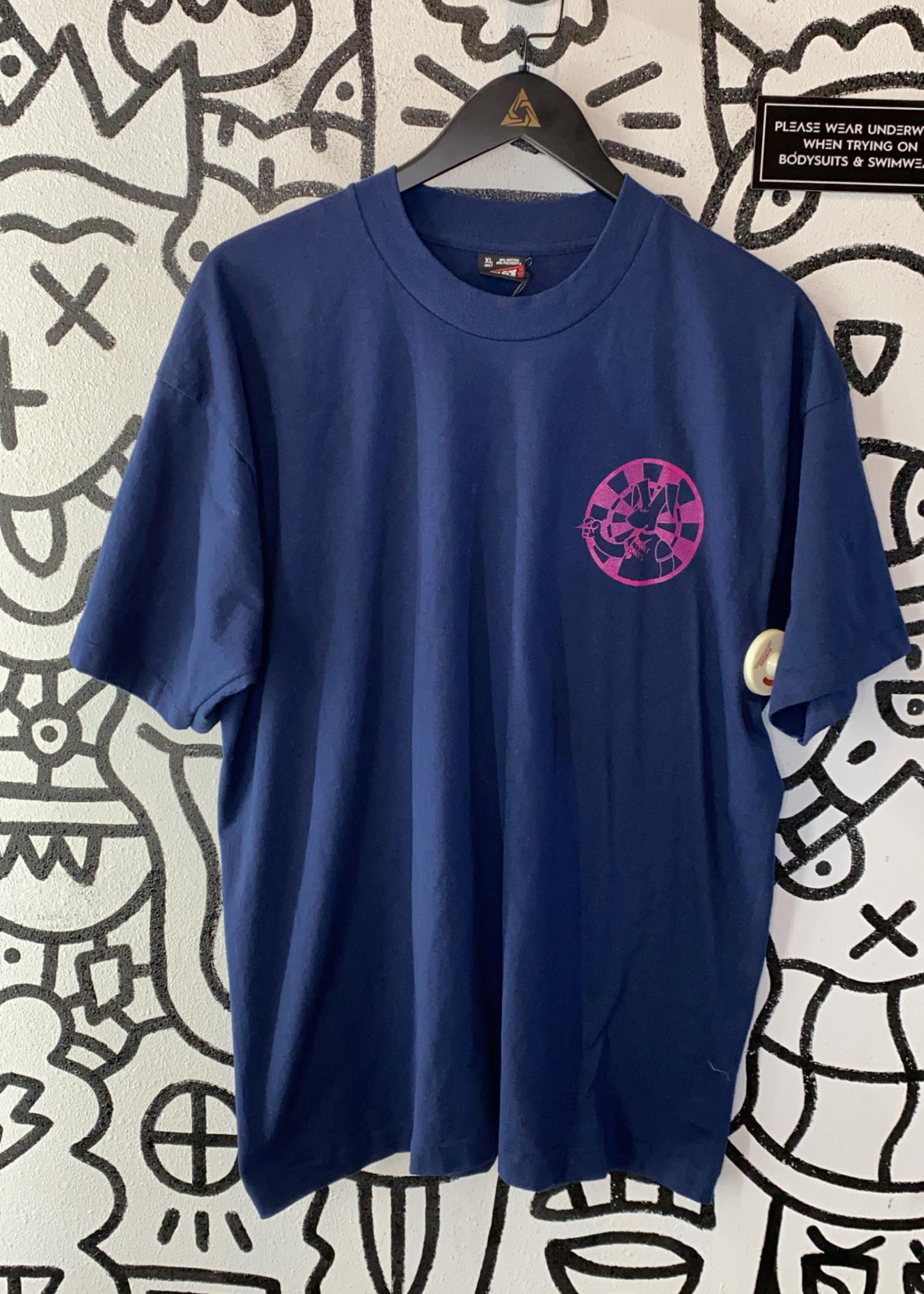 Vintage Navy Blue Rabbit Darts shirt XL