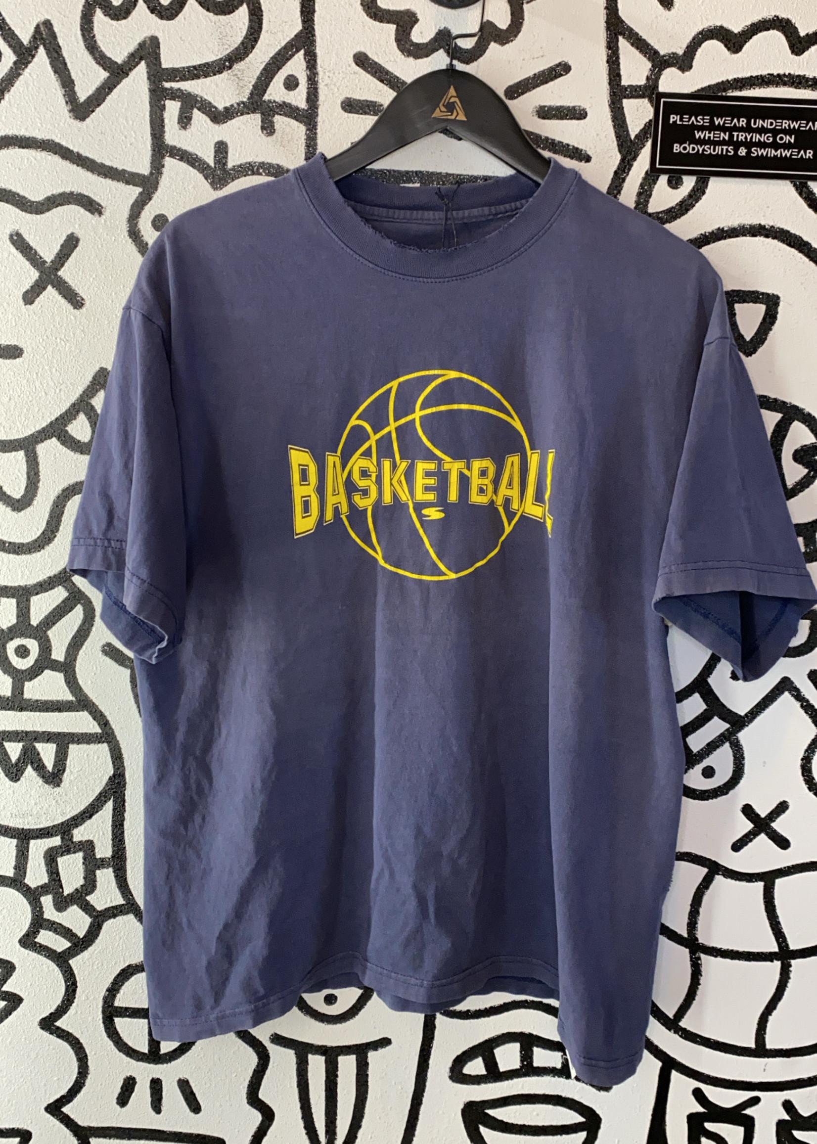 Vintage 90's Navy Blue Basketball Shirt L