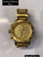 Nixon 42-20 Chrono Limited Edition Gold Watch (Retail: $500)