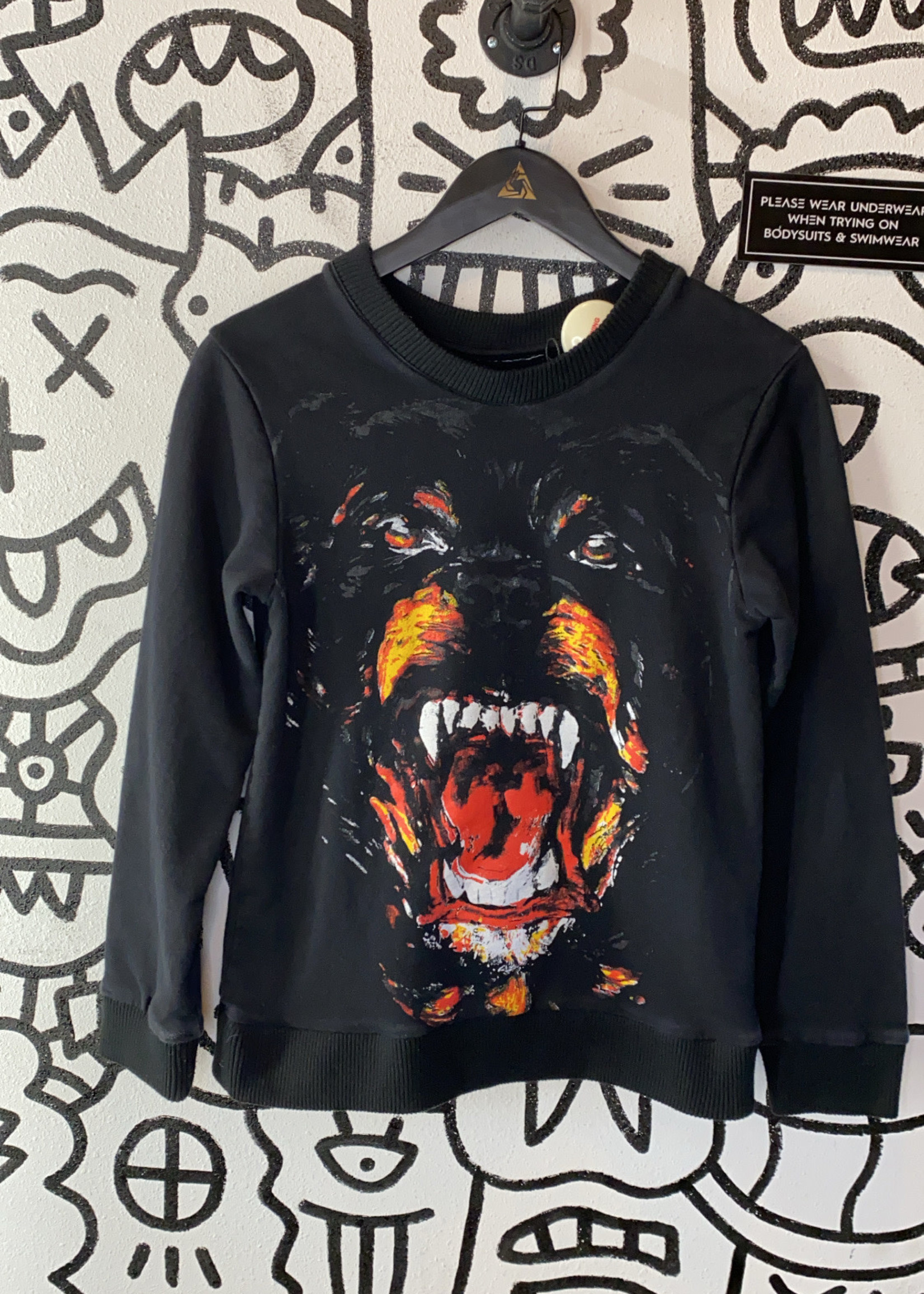 Givenchy Knockoff Black Rottweiler Sweater S