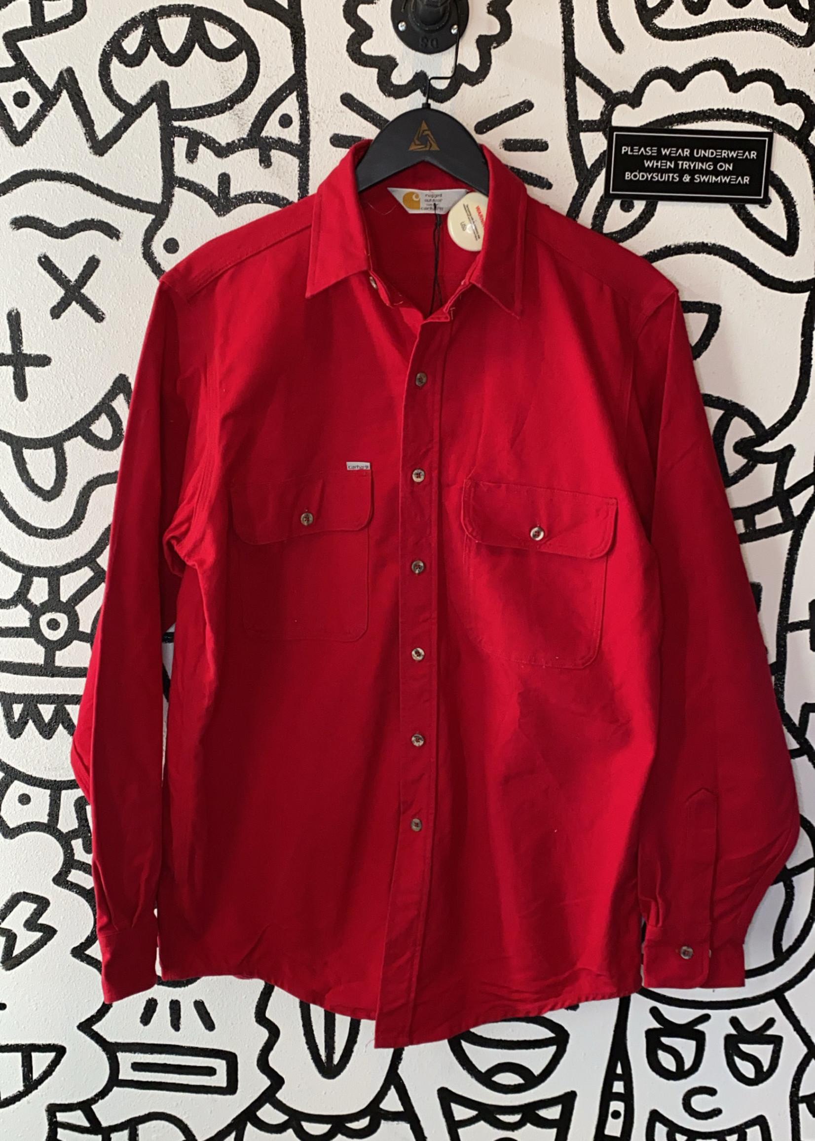 Carhartt Red Button Down Long Sleeve M