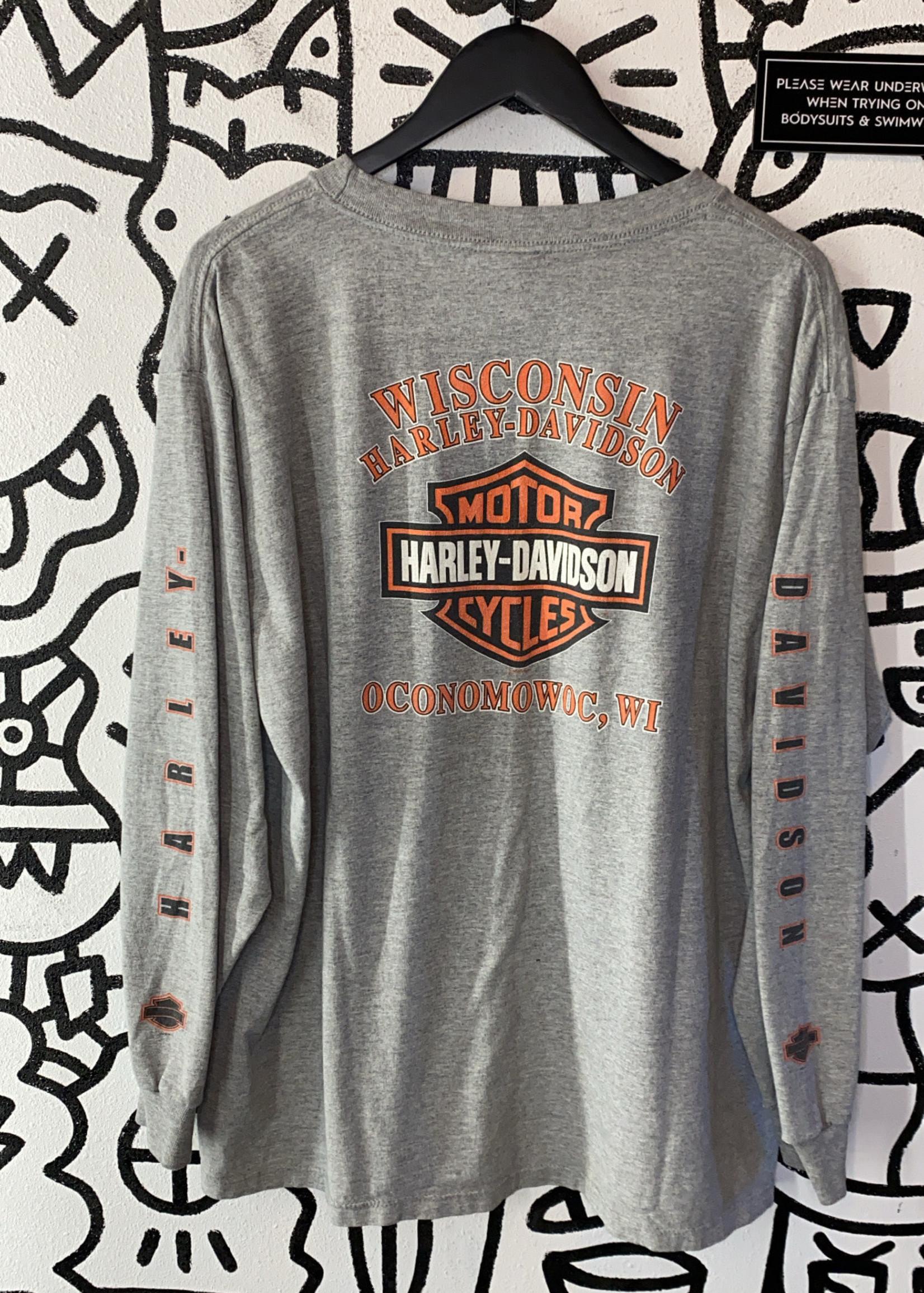 Harley Davidson Grey Long Sleeve Wisconsin Tee XL