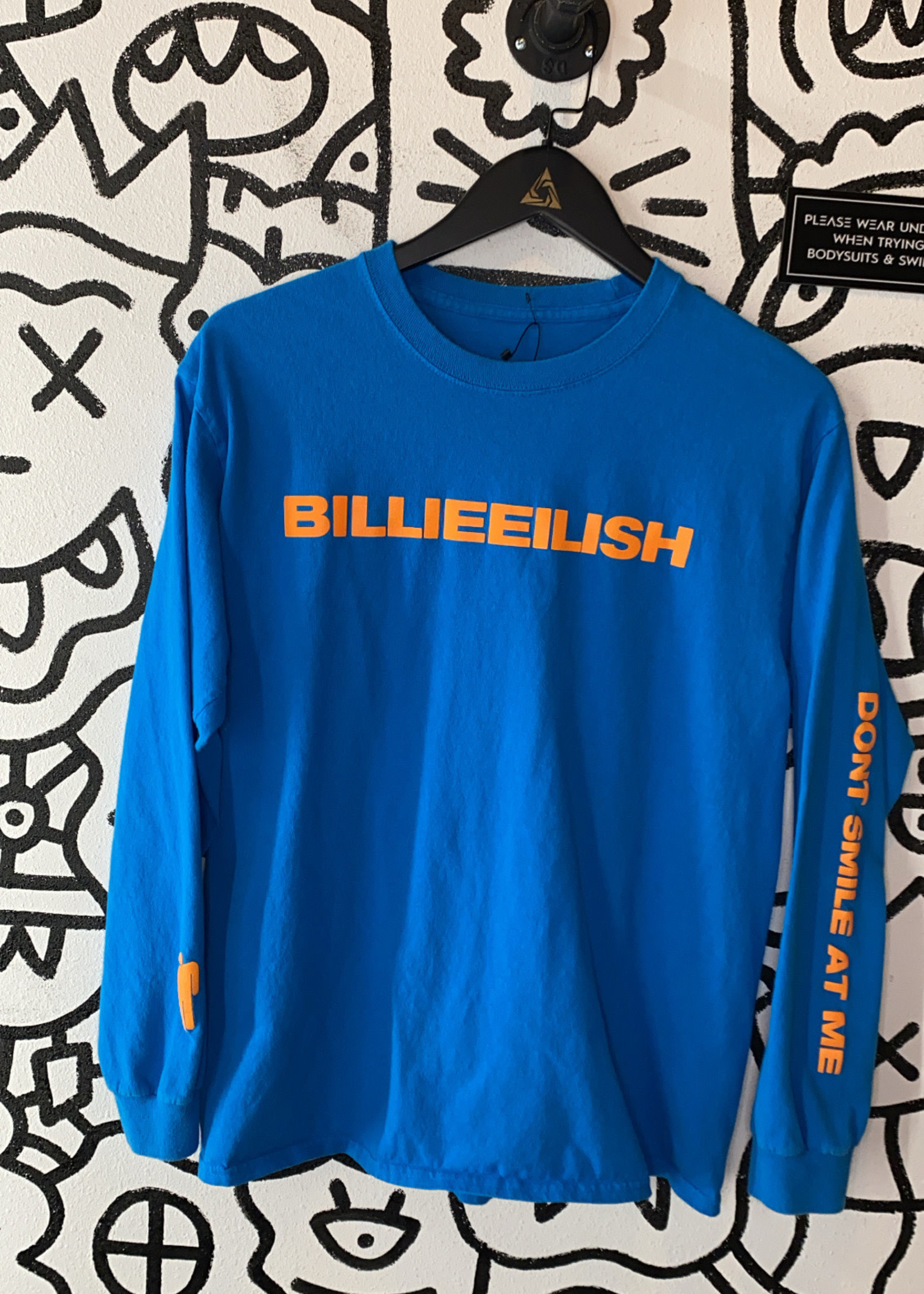 Billie Eilish Blue 'Don't Smile at Me' Long Sleeve M