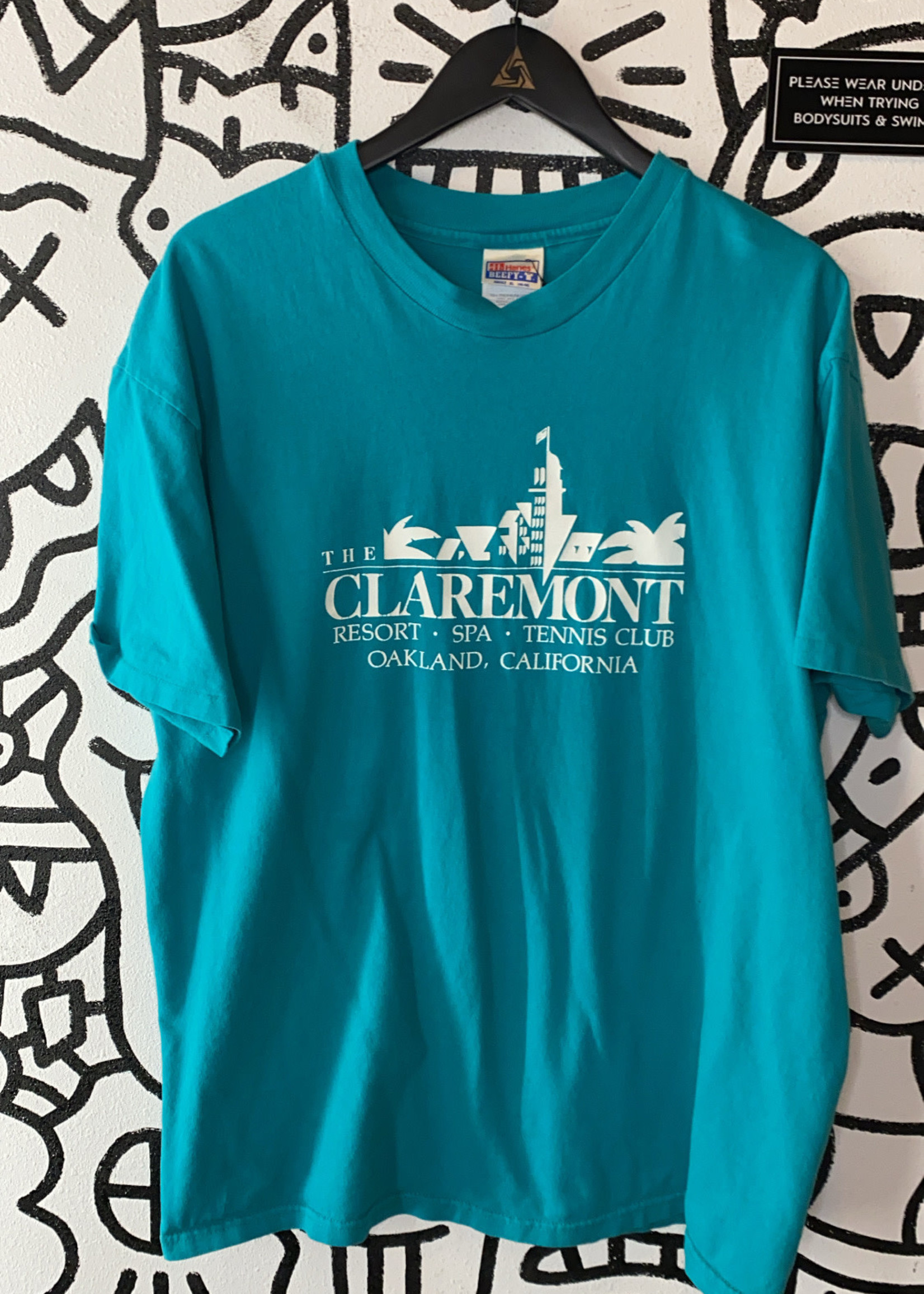 The Clairemont Vintage Teal Tee XL