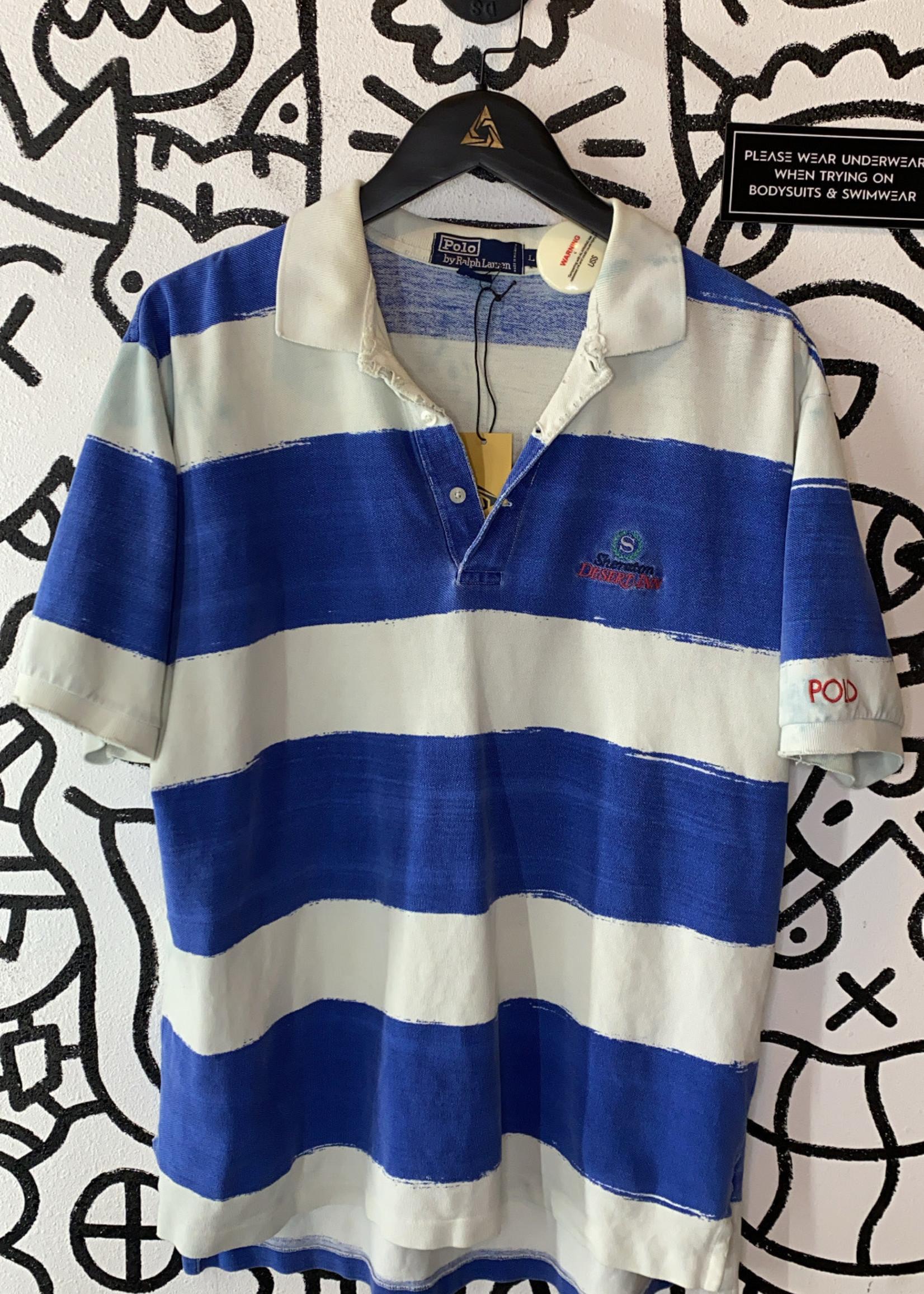 Vintage Polo by ralph lauren striped t shirt L