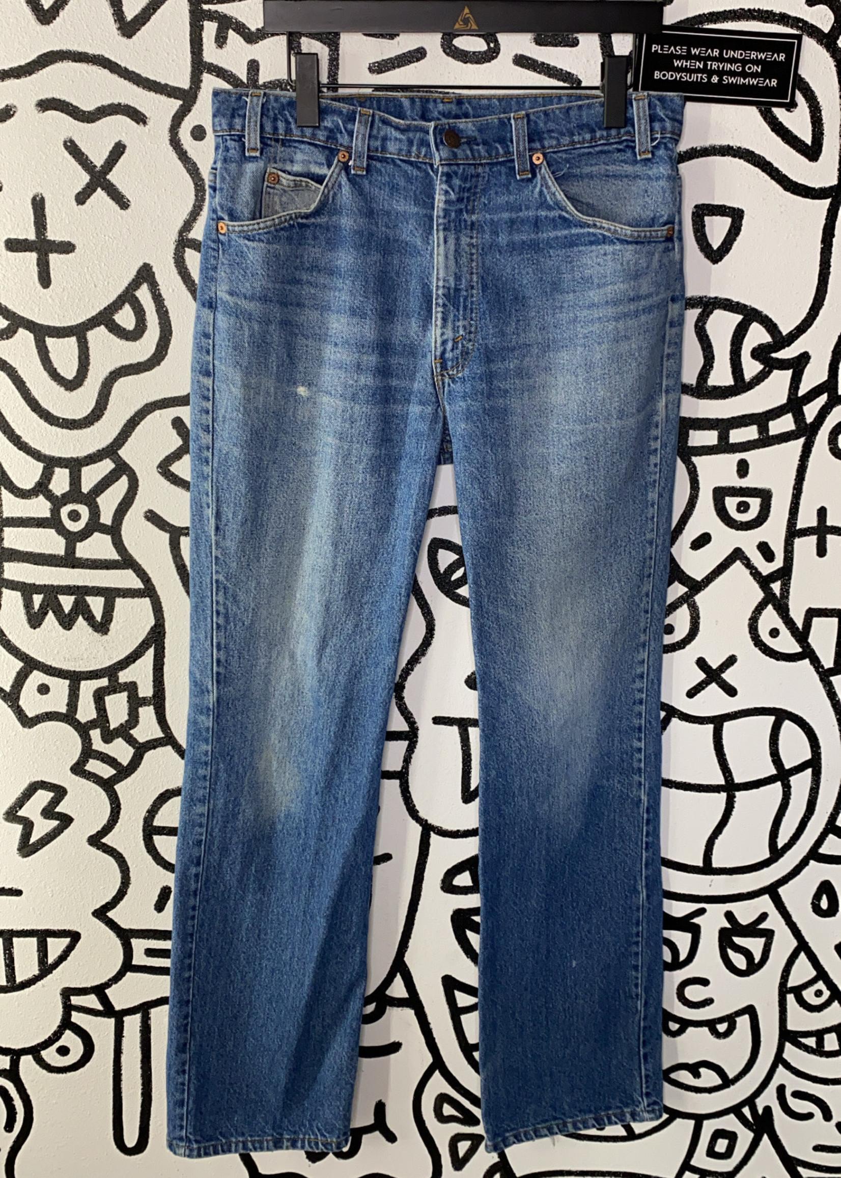 "70s Levi's 517 Orange Tab Light Wash Jeans 34"""