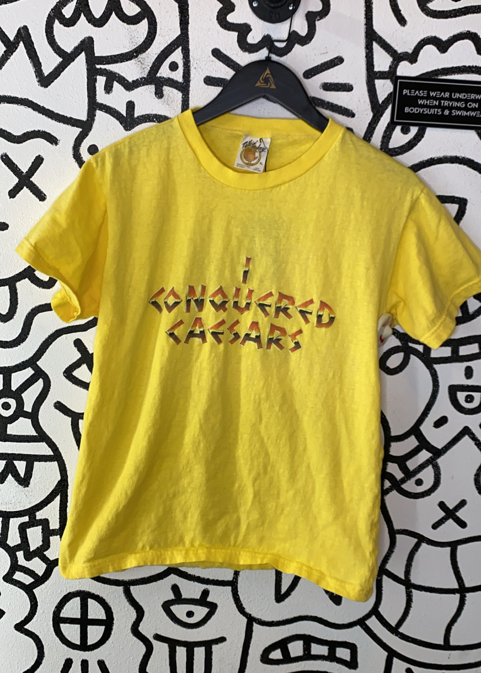 I Conquered Caesars Vintage Yellow Tee Women's L
