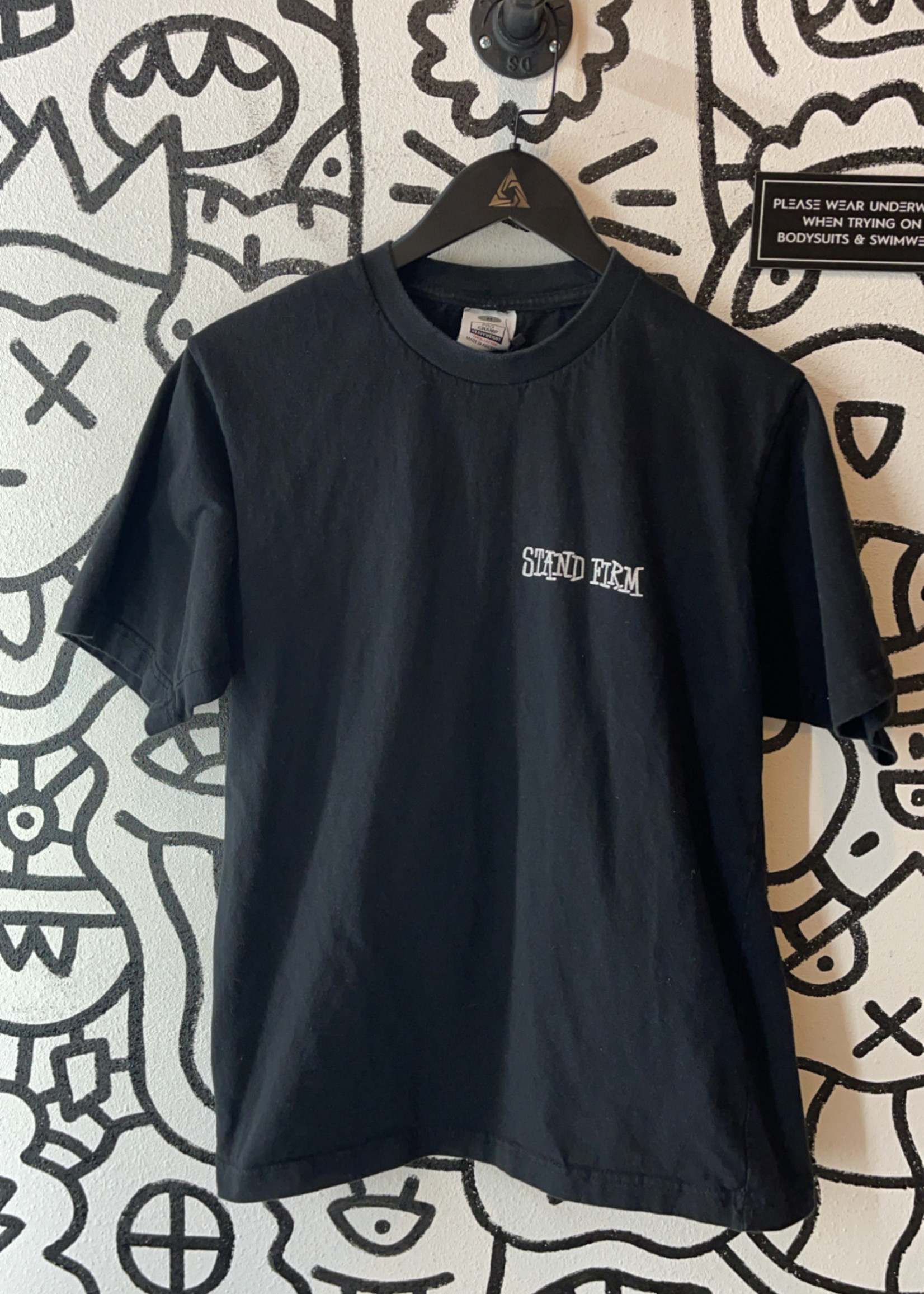 Stand Firm End Racism Black Tee M