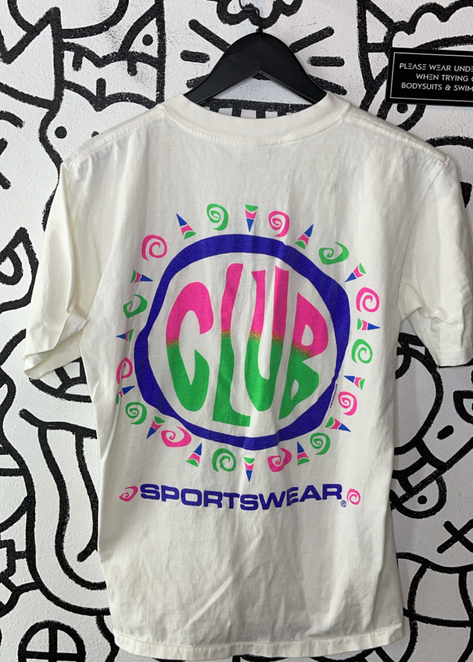 Club Sportswear Vintage White Tee L