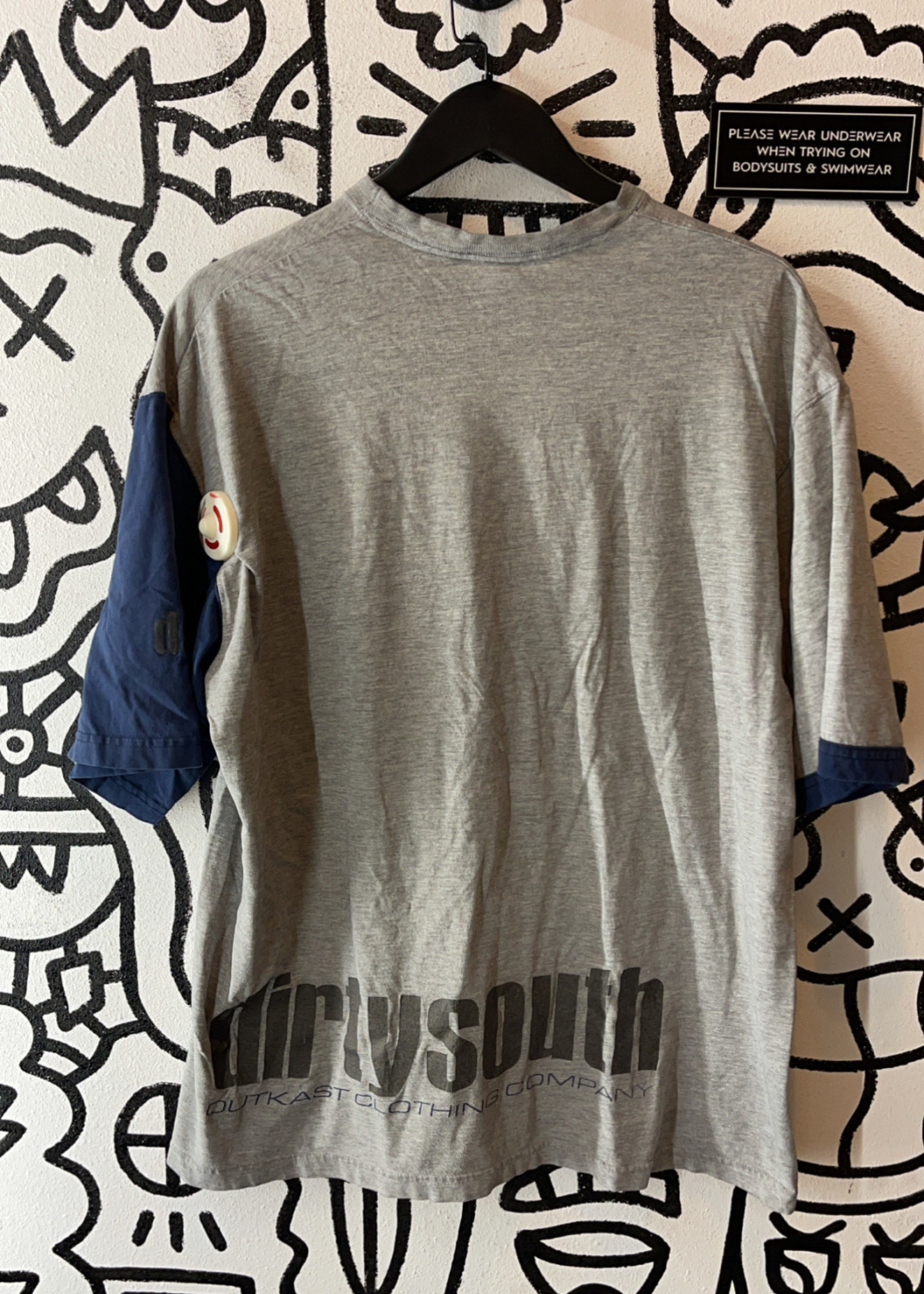 Outkast Clothing Co Grey Distressed Tee XL