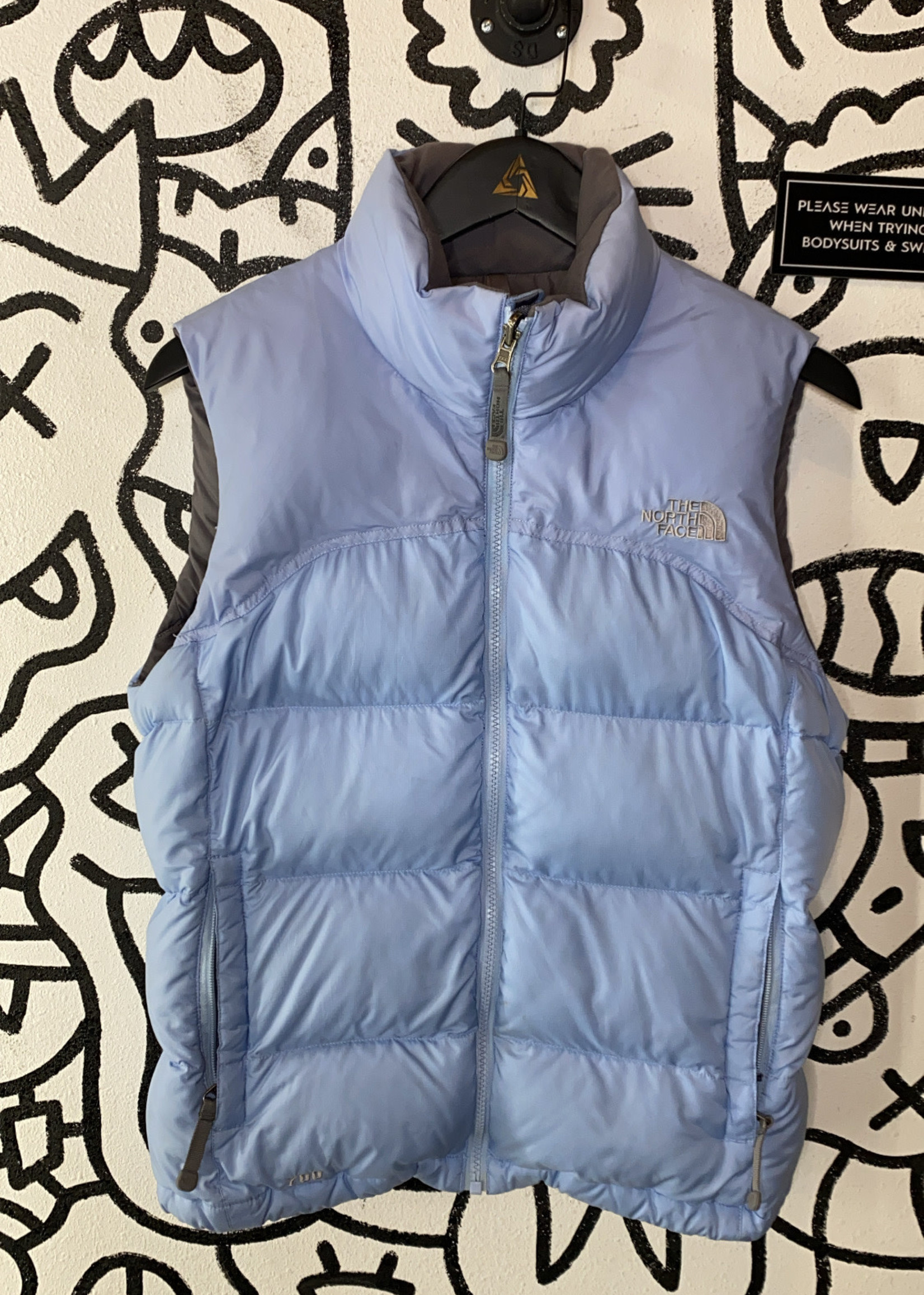 The North face baby blue puffer vest S