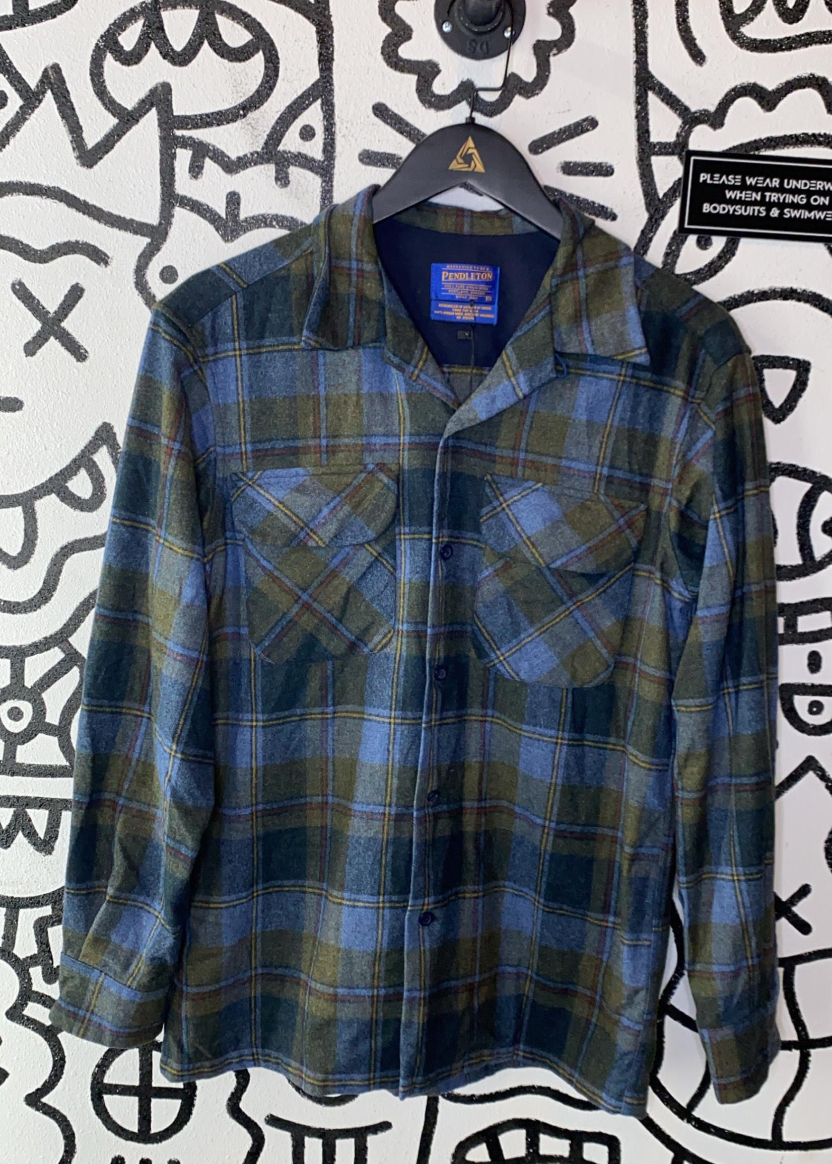 Vintage Pendleton Green Plaid Flannel S