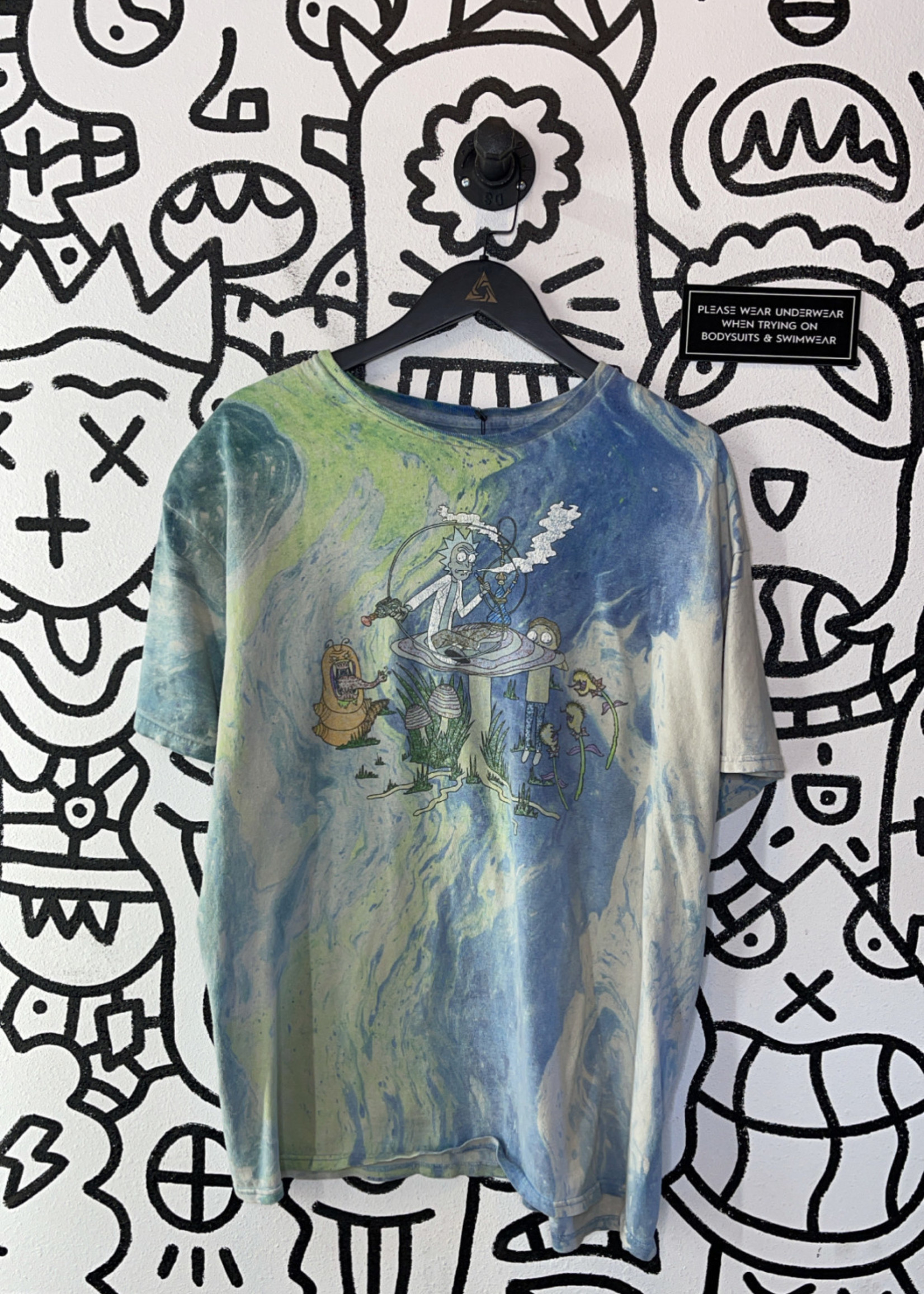 Rick and morty grahic tye die t shirt XL